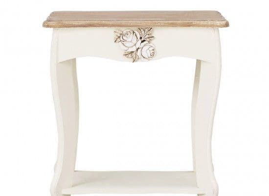 Rennes Soft White And Cream Lamp Table 17LD384